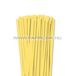 7mm kanáriková žltá papierové prúžky na quilling (80 ks, 49 cm)