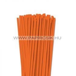 7mm svetlo oranžová papierové prúžky na quilling (80 ks, 49 cm)