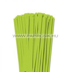 7mm jarná zelená papierové prúžky na quilling (80 ks, 49 cm)