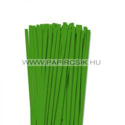 7mm zelená  papierové prúžky na quilling (80 ks, 49 cm)