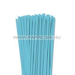 7mm modrá aqua papierové prúžky na quilling (80 ks, 49 cm)