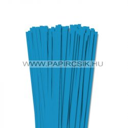7mm azúrovo modrá papierové prúžky na quilling (80 ks, 49 cm)