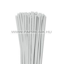 7mm svetlošedá papierové prúžky na quilling (80 ks, 49 cm)