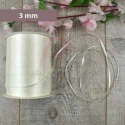 Szatén szalag (Krém, 3mm, 1 méter)