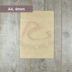 Lisovaná drevená doska 16x16cm,  3mm, 1ks)