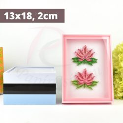 Quilling képkeret - Pink (13x18, 2cm)
