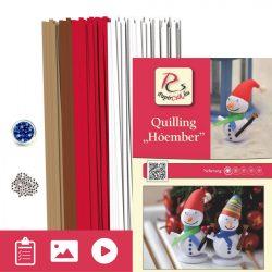 Snehuliak - Quilling vzor (260 prúžkov a popis s obrázkami)