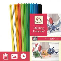 Rybičky - Quilling vzor (140 prúžkov a popis s obrázkami