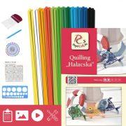 Rybičky - Quilling vzor (140 prúžkov a popis, pomôcky)