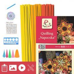 Slniečko - Quilling vzor (240 prúžkov a popis, pomôcky)
