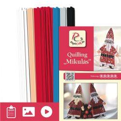 Mikuláš - Quilling vzor (200 prúžkov a popis s obrázkami)