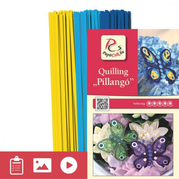Motýľ - Quilling vzor (210 prúžkov a  popis s obrázkami)