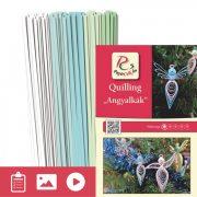 Anjeli - Quilling vzor (130 prúžkov a popis s obrázkami)