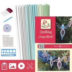 Anjeli - Quilling vzor (130 prúžkov a popis, pomôcky)