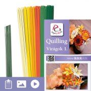 Kvety 1. - Quilling vzor (220 prúžkov a popis s obrázkami)
