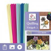 Kvety 2. - Quilling vzor (200 prúžkov a popis s obrázkami)