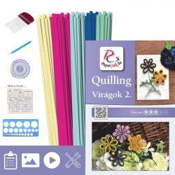 Kvety 2. - Quilling vzor (200 prúžkov a popis, pomôcky)