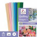 Kvety 3. - Quilling vzor (220 prúžkov a popis s obrázkami)