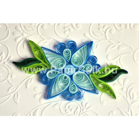 Kvety 3. - Quilling vzor (220 prúžkov a popis, pomôcky)