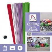 Vodné zvieratá - Quilling vzor (190 prúžkov a popis s obrázkami)