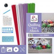 Vodné zvieratá - Quilling vzor (190 prúžkov a popis, pomôcky)