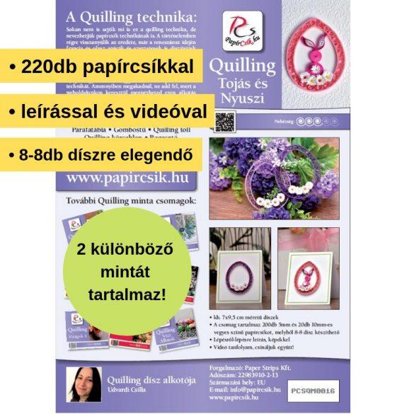 Vajíčko a Zajac - Quilling vzor (220 prúžkov a popis s obrázkami)