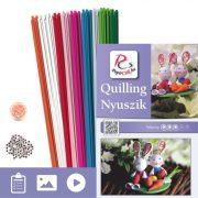 Zajačikovia - Quilling vzor (200 prúžkov a popis s obrázkami)
