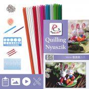 Zajačikovia - Quilling vzor (200 prúžkov a popis, pomôcky)