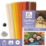 Jež a list - Quilling vzor (200 prúžkov a popis s obrázkami)