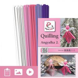 Anjeli 2. - Quilling vzor (130 prúžkov a popis s obrázkami)