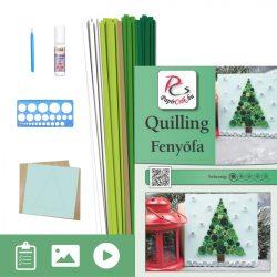 Borovica - Quilling vzor (60 prúžkov a popis, pomôcky)