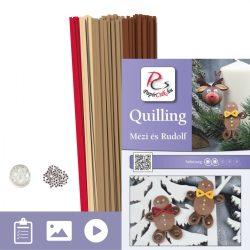 Honey a Rudolf - Quilling vzor (170 prúžkov a popis s obrázkami)