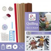 Honey a Rudolf - Quilling vzor (170 prúžkov a popis, pomôcky)