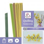 Aranycserje - Quilling minta (170db csík 5db mintához és leírás képekkel)