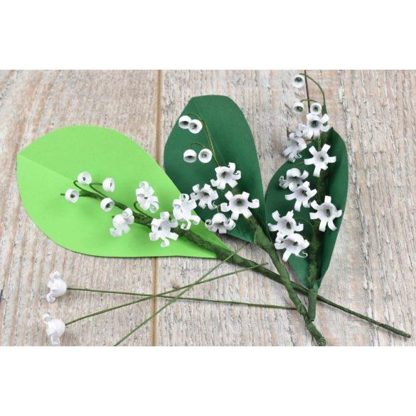 Gyöngyvirág  - Quilling minta (70db csík 10db mintához és leírás képekkel)