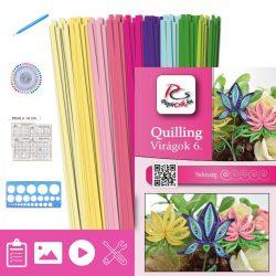 Virágok 6. - Quilling minta (210db csík 6-6db mintához és leírás, eszközök)
