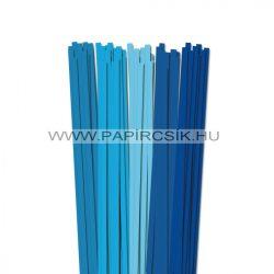 Kék árnyalatok, 7mm-es quilling papírcsík (5x20, 49cm)