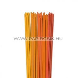 Narancs árnyalatok, 5mm-es quilling papírcsík (5x20, 49cm)