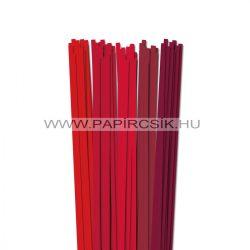 Piros árnyalatok, 6mm-es quilling papírcsík (5x20, 49cm)