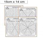 Mini šablóna na quilling s korkom, šablóny 4 ks (15x14 cm)