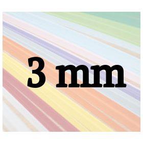 3mm papierové prúžky na quilling